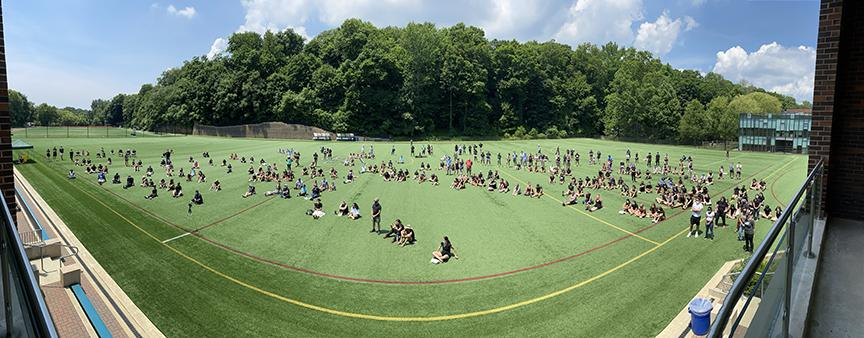 Approximately 400 students, parents, faculty, alumnae, and others in the community turned out for GA's July 15, 2020 Black Lives Matter rally.